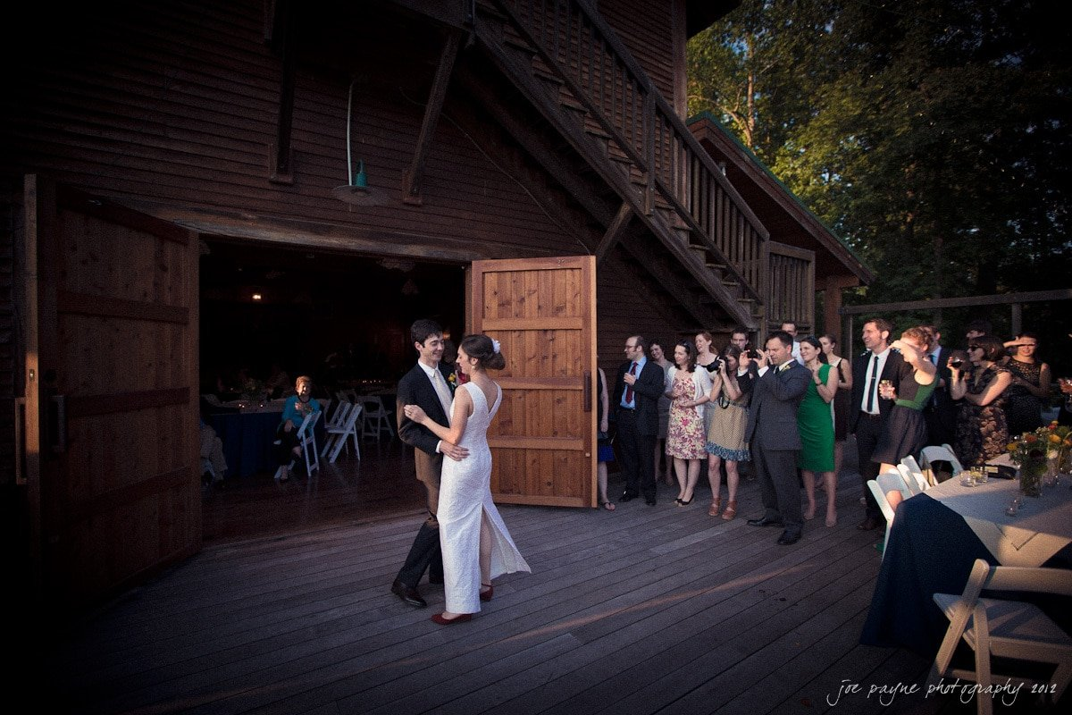 chapel hill wedding photography - first dance at barn at valhalla