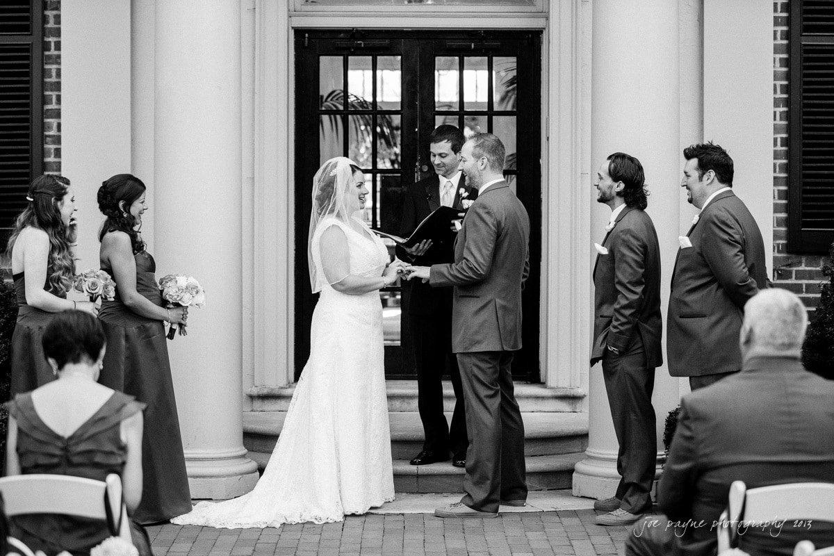 carolina inn wedding vows exchanged