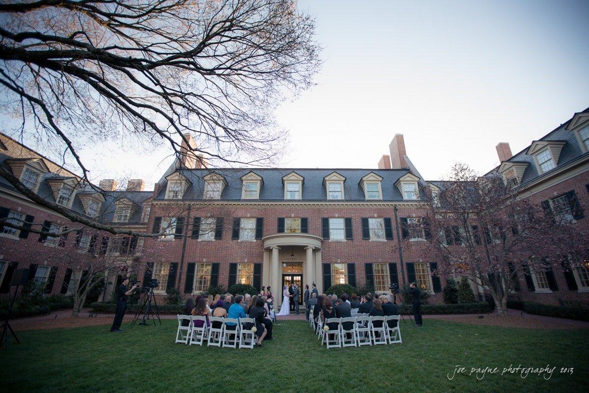 carolina inn weddings wide angle view