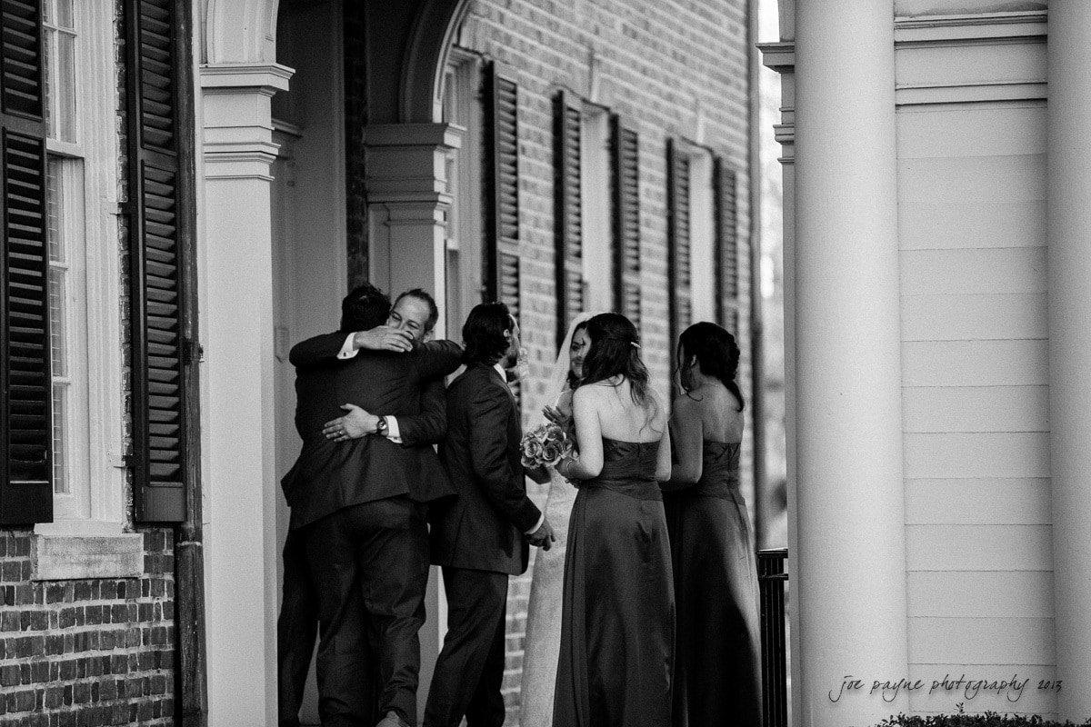 congratulating the groom at the carolina inn