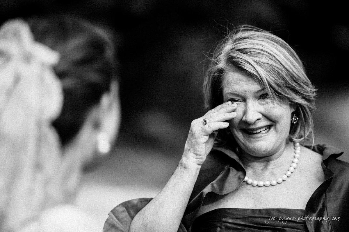 mom gets emotional after wedding