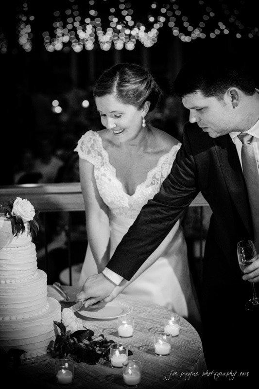 raleigh stockroom wedding cake cutting
