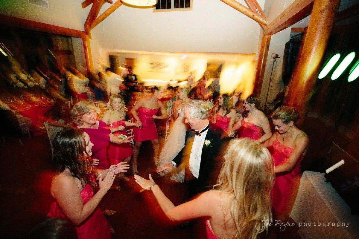 mon and dad of bride dance at doris duke center reception