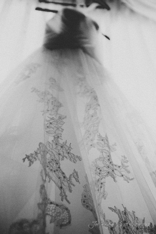 pronovias wedding dress detail