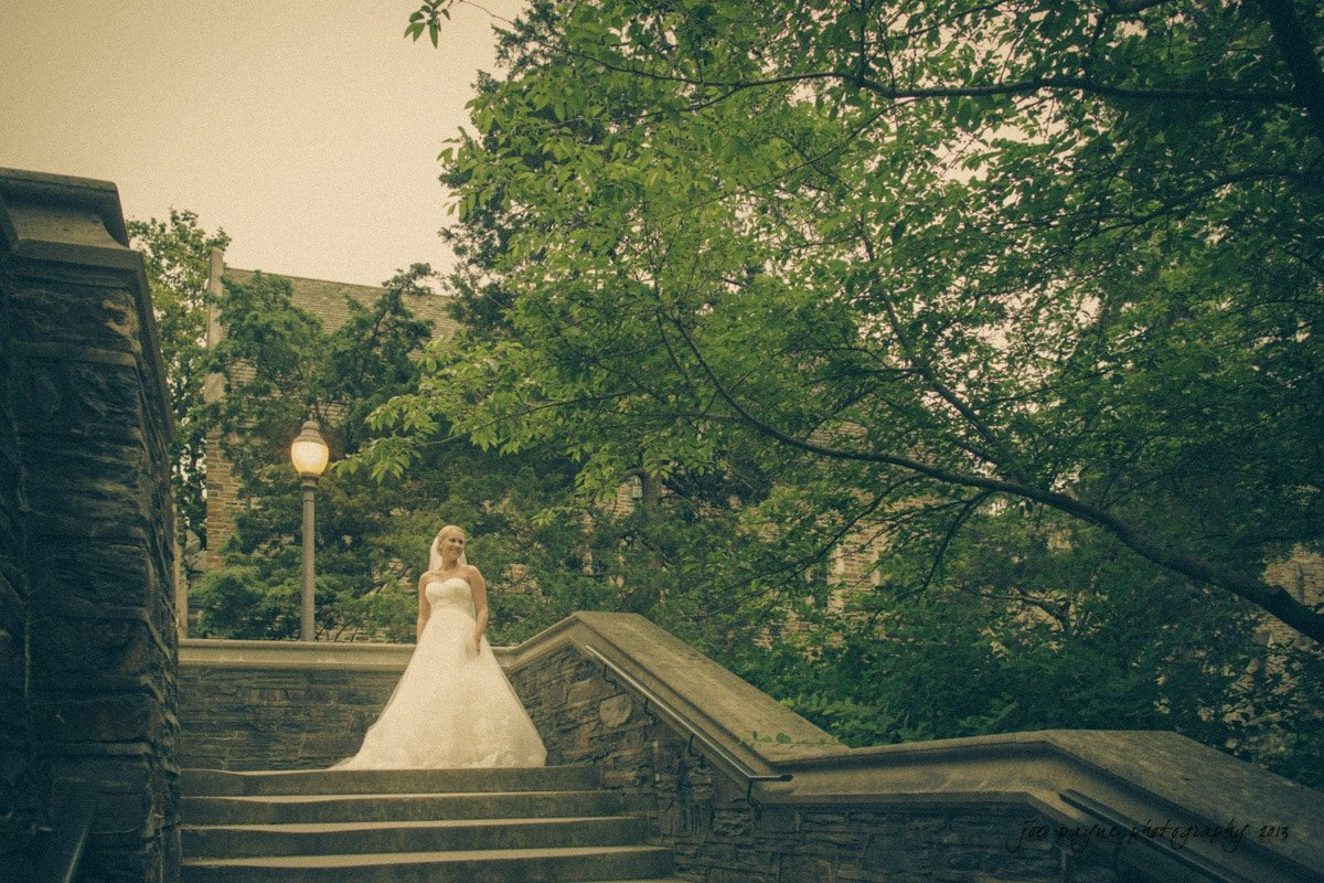 duke chapel bridal session - ramparts