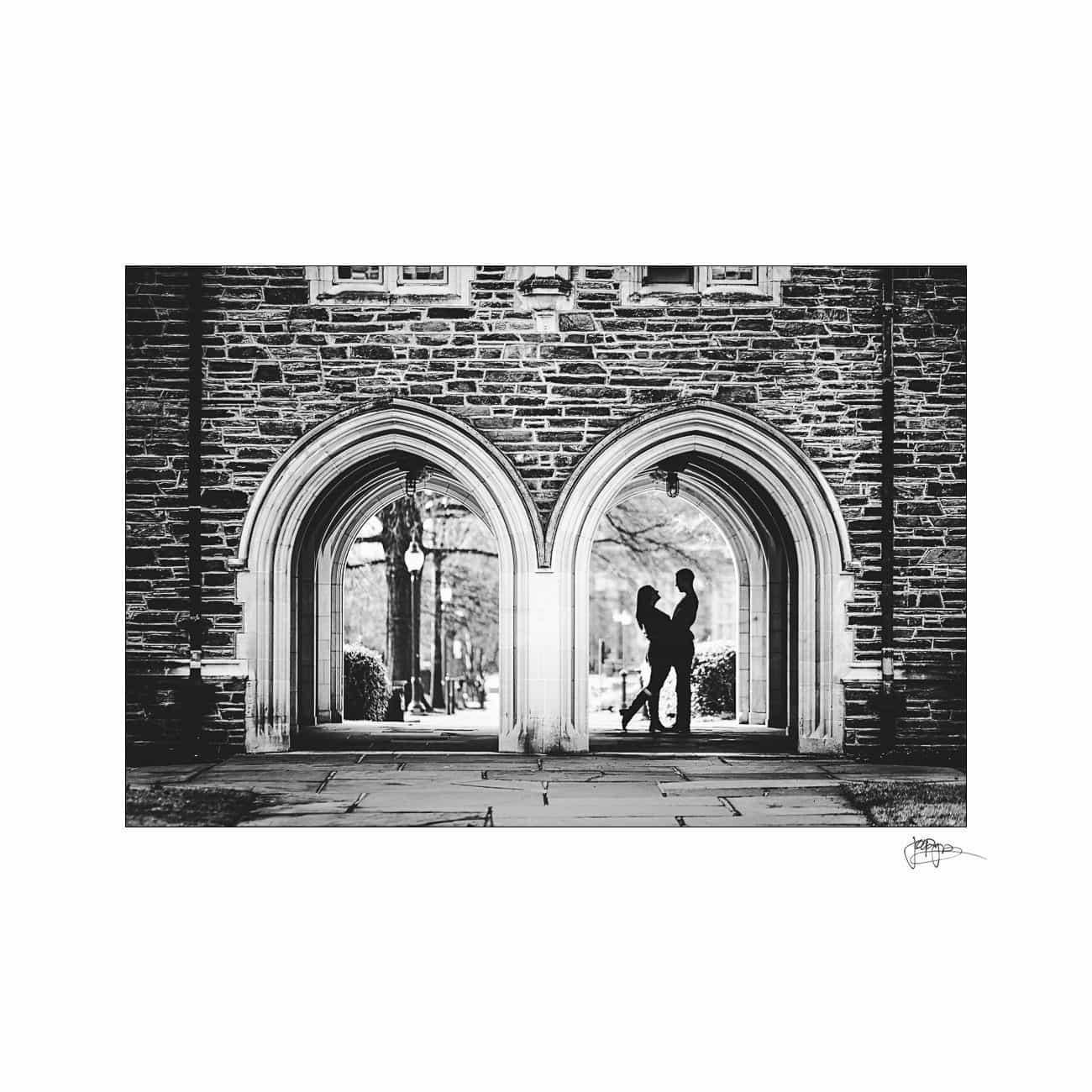 duke university engagement silhouette