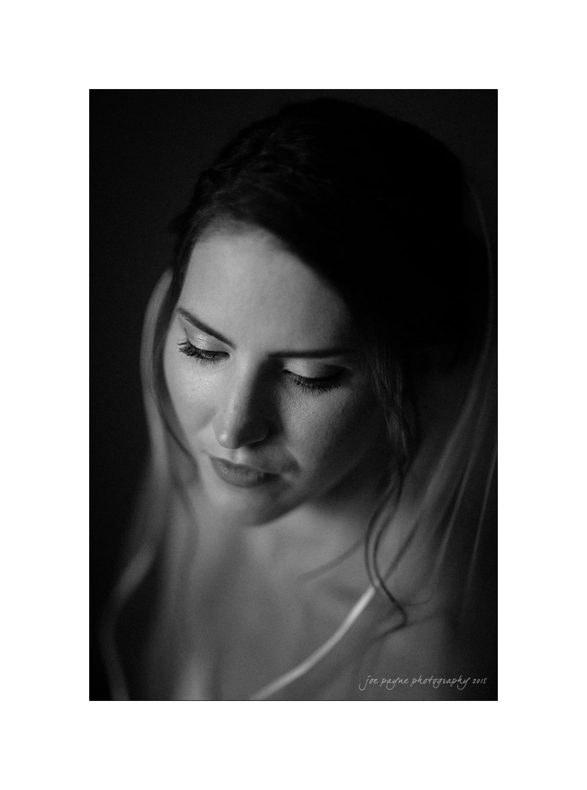 nc wedding photographer black and white bridal photo