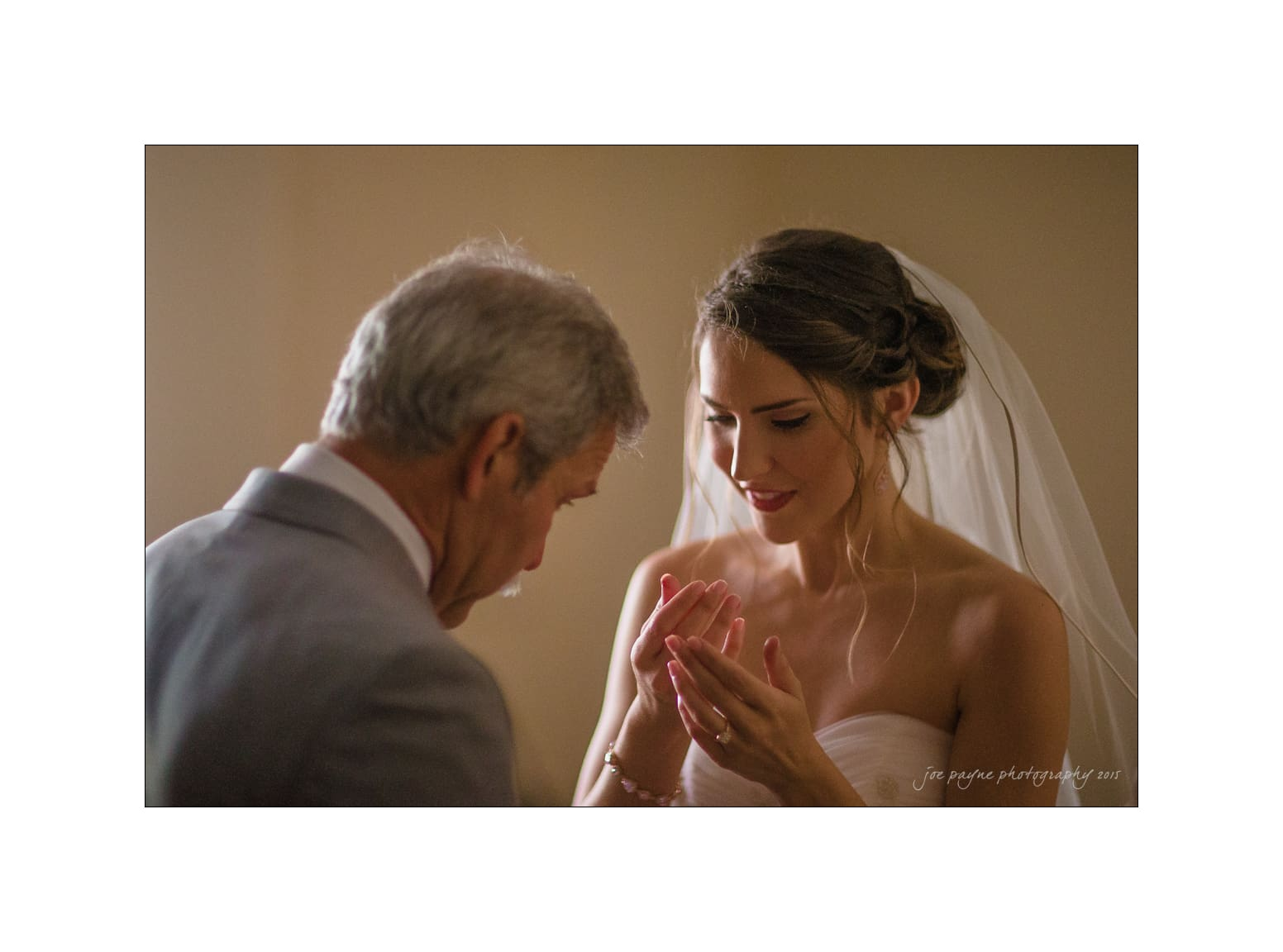 nc wedding photographer emotional bride and dad