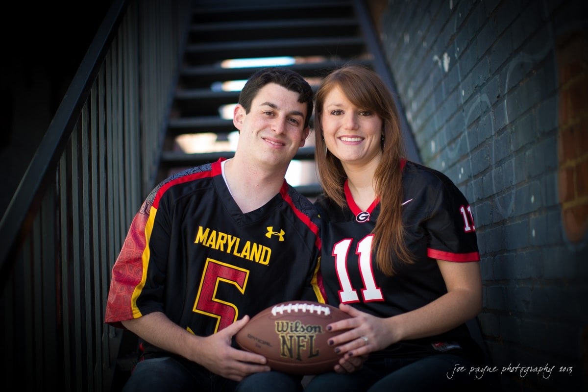 maryland uga engagement photos