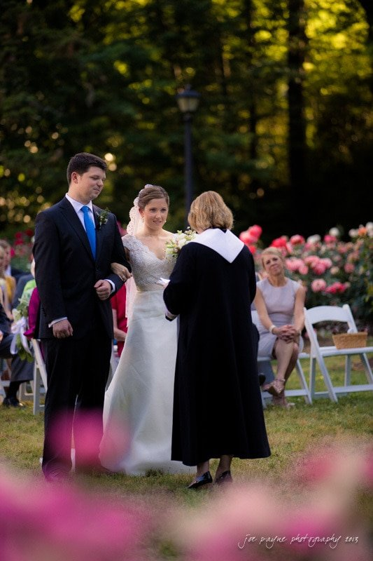 wedding at raleigh rose garden