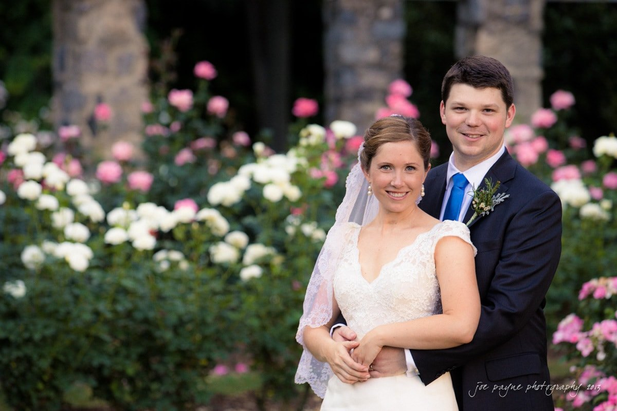 raleigh rose garden married couple