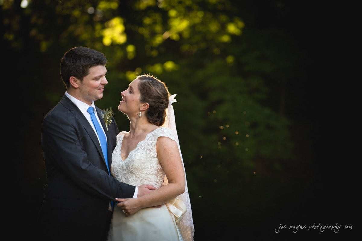raleigh rose garden wedding portrait