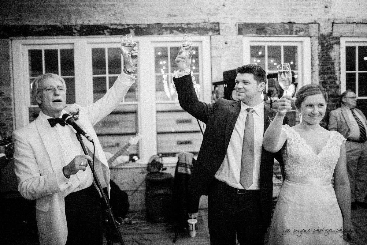 stockroom raleigh wedding toast