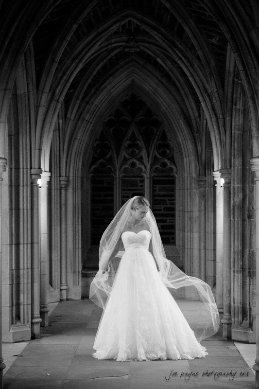 duke chapel bride with veil