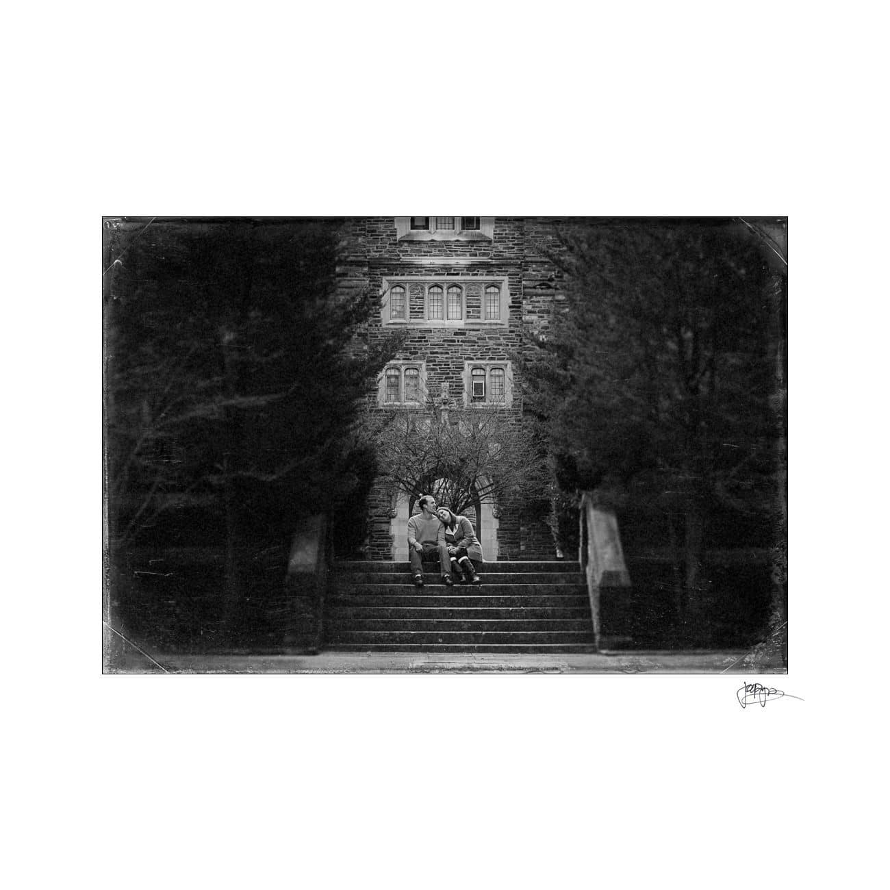 duke university couple B&W