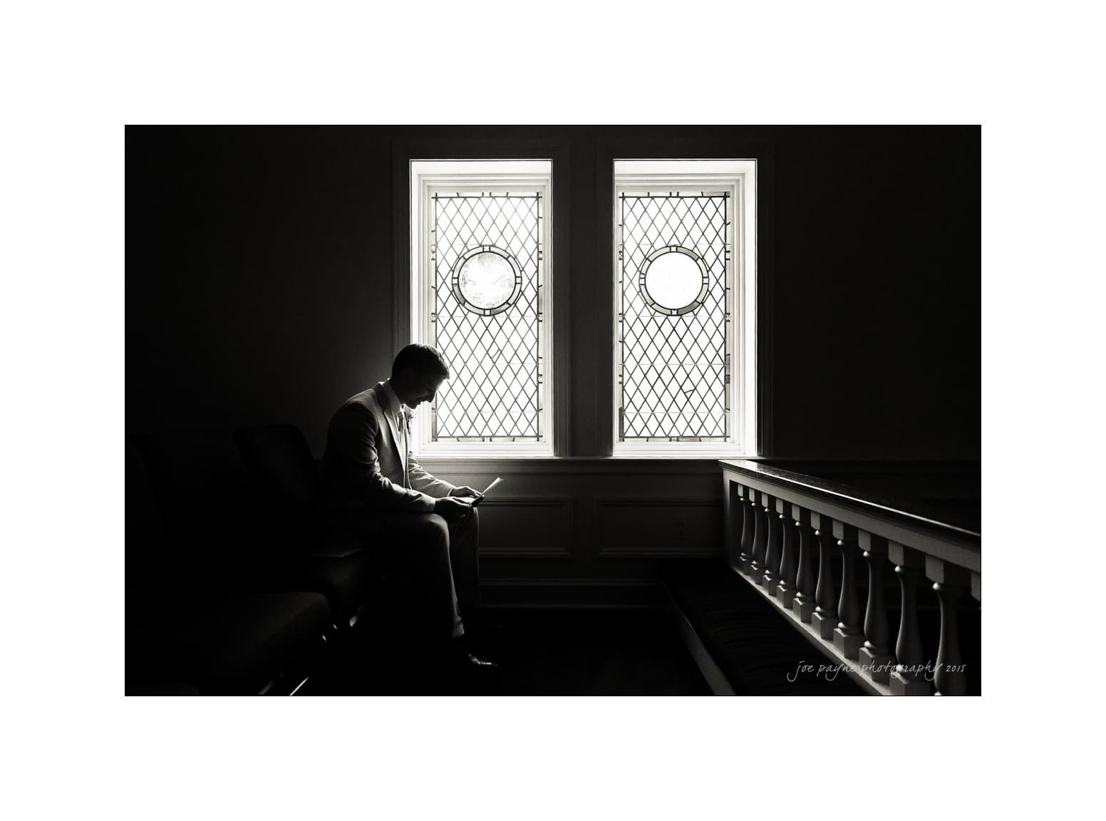 nc wedding photographer groom letter silhouette