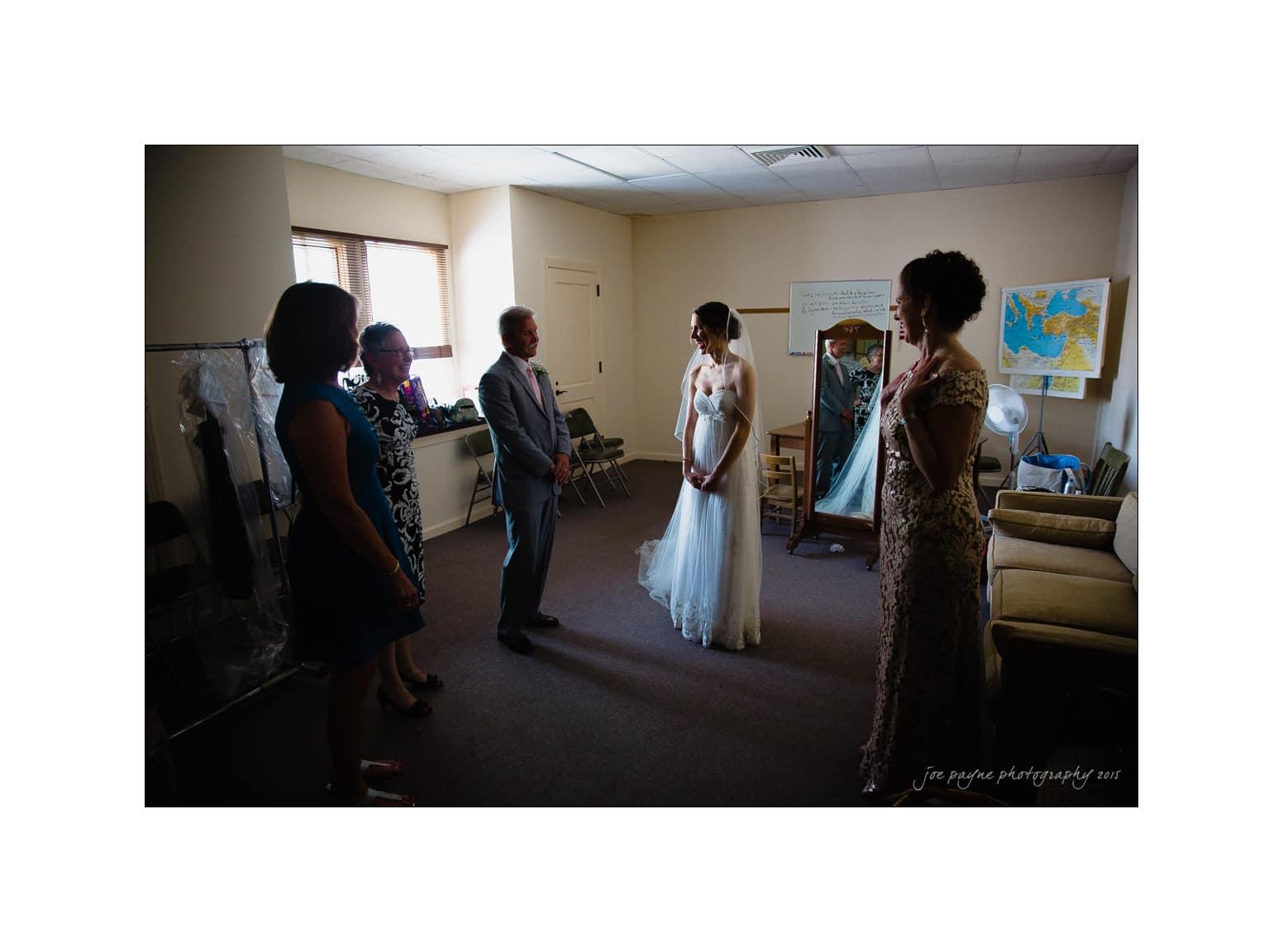 nc wedding photographer anxiously waiting bride