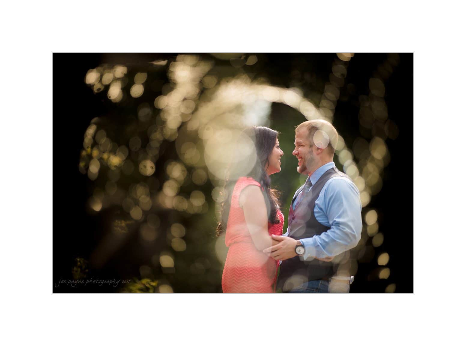 duke gardens engagement photography fountain